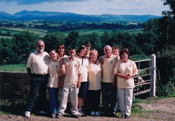 More than 70 years later, we posed for a family picture near the site of the old farm in Creevy.