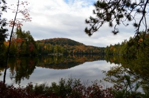 Here's how the colours on Upper Saranac Lake looked earlier this week. Photo by Tom Phillips.