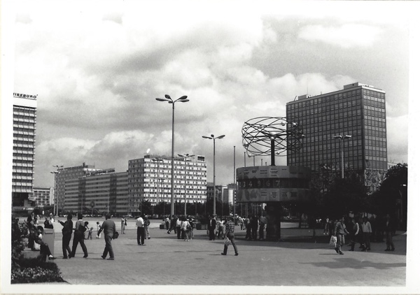 Alexanderplatz in East Berlin was an eerie blend of Stalinist blocks and Jetsons-style embellishments.