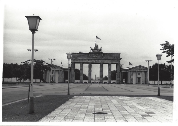 The Brandenburg Gate from East Berlin.