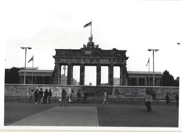 The Brandenburg Gate from West Berlin.